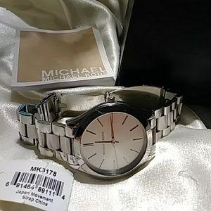 MK 3178 Silver Watch